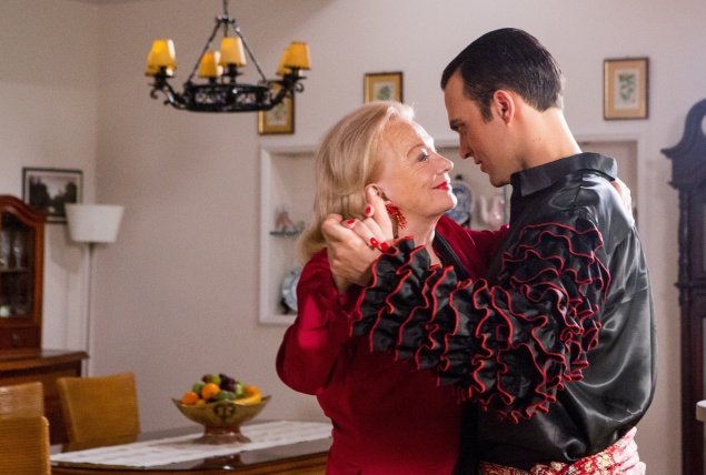 Gena Rowlands and Cheyenne Jackson as unexpected dancing partners.