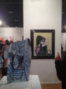 Works by Picasso at Gagosian Gallery. (Photo by Nate Freeman)