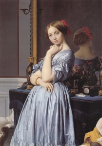 Portrait of Countess D'Haussonville by Jean Auguste Dominique Ingres