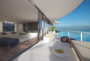 Terrace view of the Miami Beach Edition.