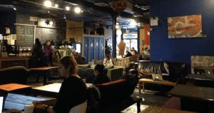 Inside the Tea Lounge last week. (Photo: Dave Colon)