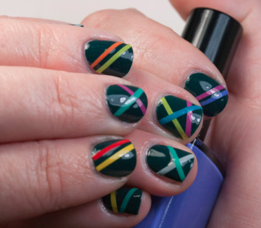 The first intersection of nail-art and coding we've ever seen. (Photo via Tes Tube Nails)