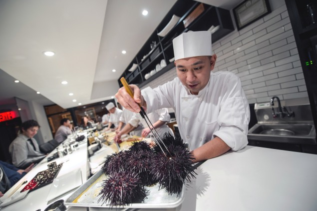 Sushi Nakazawa. (Photo by Daniel Krieger for the New York Times)