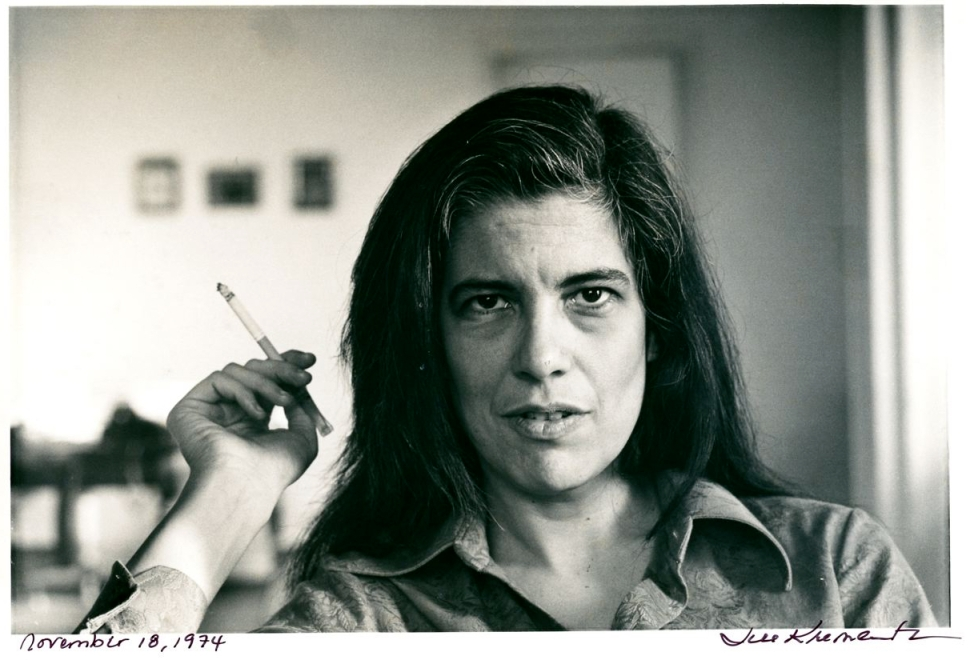 Susan Sontag shot in her New York City apartment by Jill Krementz, November, 18, 1974.