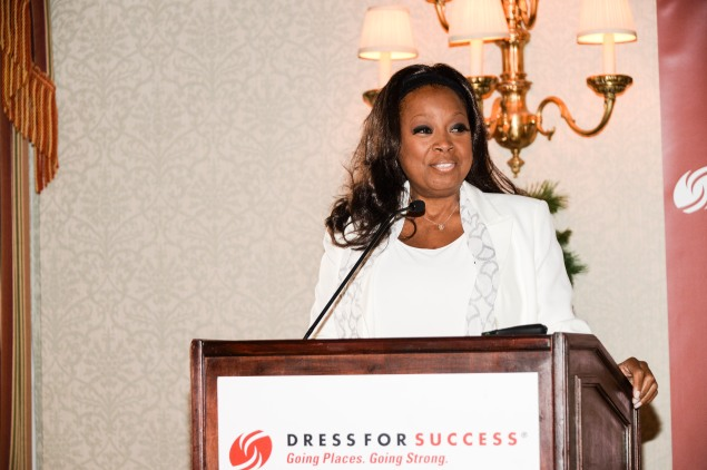 Star Jones speaks at the Dress for Success breakfast. (Photo via Dress for Success)
