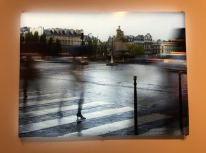 Jim Campbell's animated and backlit portrait of a rainy day in Paris's 3rd arrondissement was mesmerizing (also at Bryce Wolkowitz).