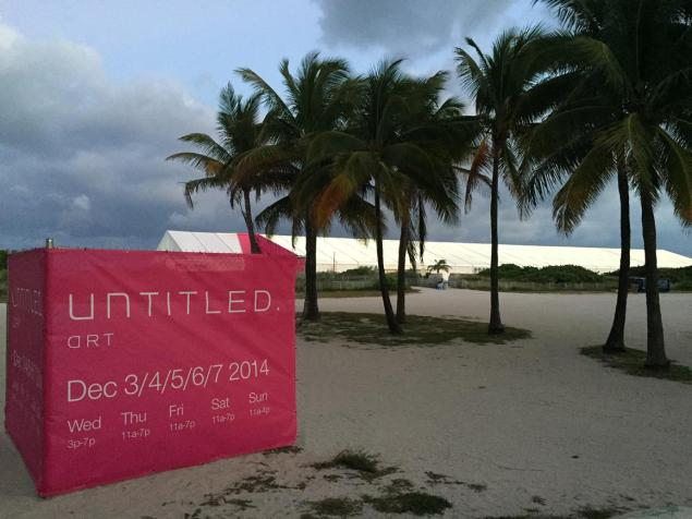 UNTITLED.'s tent sits right on the sand at South Beach.