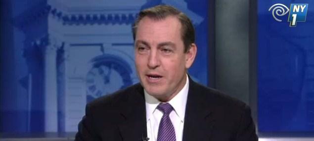 Former Congressman Vito Fossella on NY1 last night. (Screengrab: NY1)