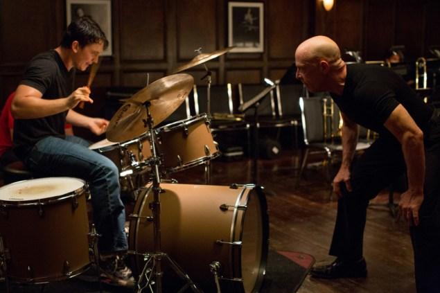Miles Teller, left, and J.K. Simmons star in Whiplash.