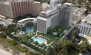 Arial view of the Miami Beach Edition.