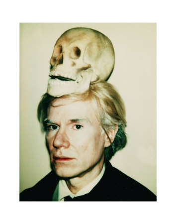 Andy Warhol, Self Portrait With Skulls (Courtesy The Andy Warhol Foundation)