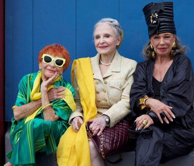 Ilona Royce Smithkin, Joyce Carpati and Lynn Dell Cohen are favorite subjects of the Advanced Style blog (Photo: Ari Seth Cohen).