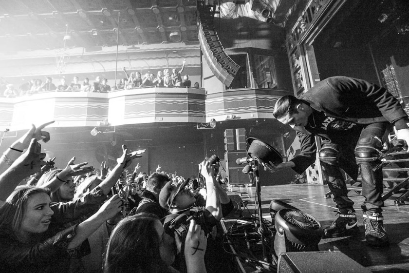 G-Eazy bows to the crowd at Webster Hall. (Photo: Bobby Bruderle)