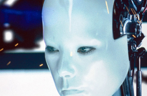 """Still from the """"All Is Full of Love"""" music video. 1999, directed by Chris Cunningham, music by Björk. Courtesy of One Little Indian)"""