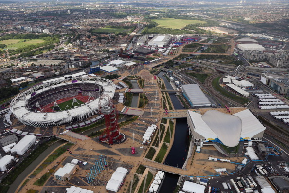 An ariel view of the Olympic Stadium on Day 7 of the London 2012 Olympic Games. (Photo by Jeff J Mitchell-Pool/Getty Images)
