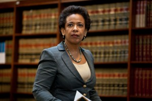 Loretta Lynch announcing money laundering charges against HSBC on December 11, 2012 in Brooklyn (Ramin Talaie/Getty Images)