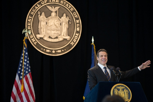Gov. Andrew Cuomo at his inaugural address at 1 World Trade Center. (Photo: NYS Governor's Office)