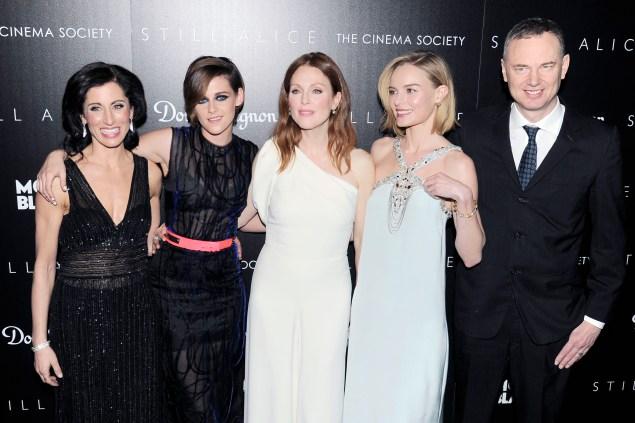 Lisa Genova, Kristen Stewart, Julianne Moore, Kate Bosworth and Wash Westmoreland. (Photo: Patrick McMullan)