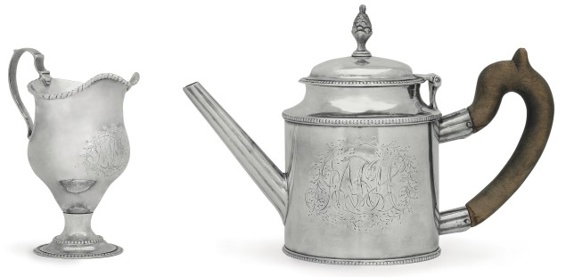 This teapot, made by silversmith and American hero Paul Revere, is one of only six similar teapots, four of which are in museums. (Photo courtesy Christie's)