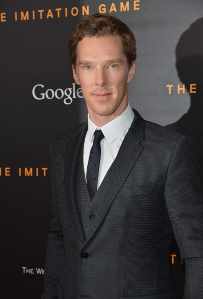 Mr. Cumberbatch in a classic three-piece suit. (Photo via Getty)