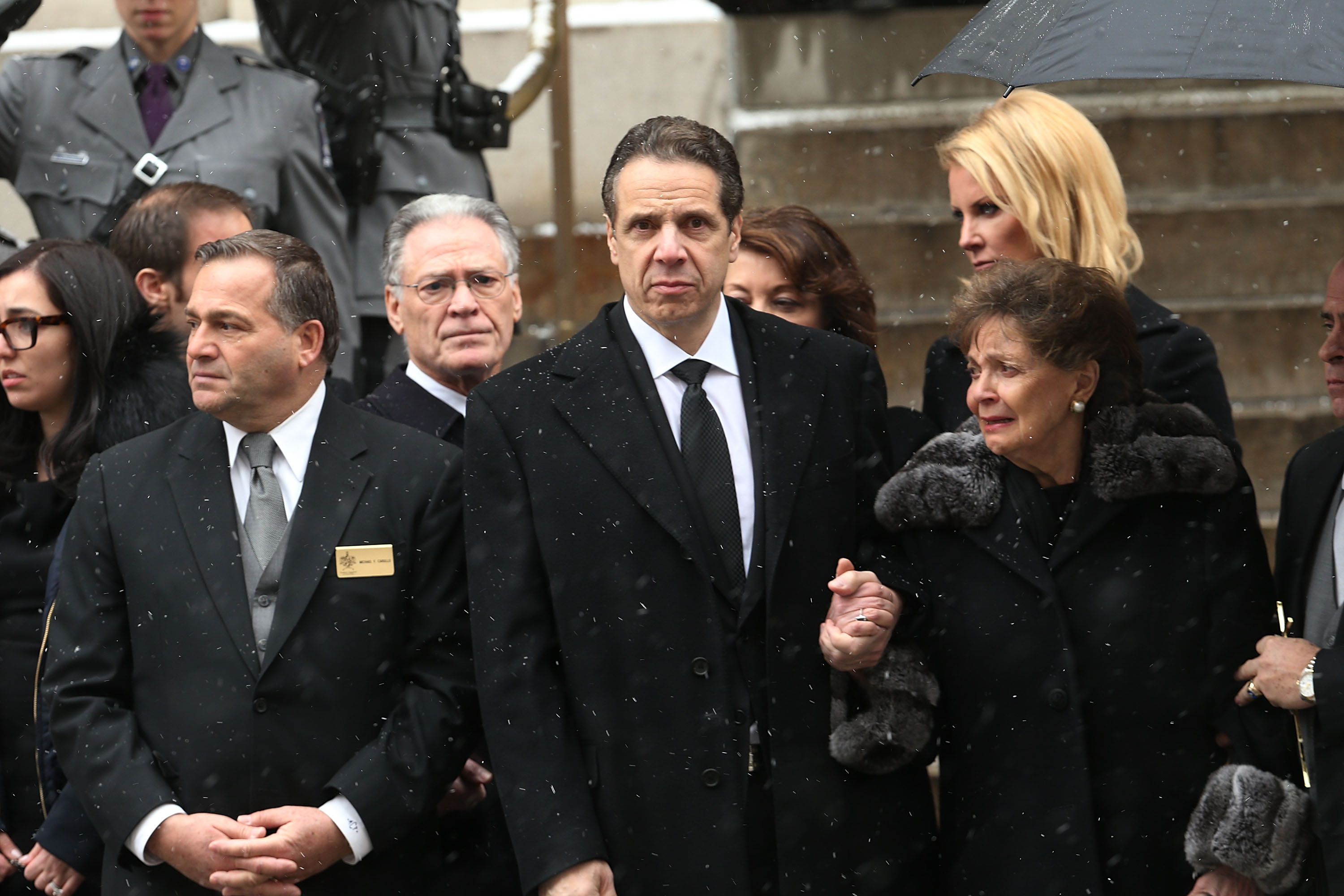 Gov. Andrew Cuomo at the funeral for his father, Mario Cuomo. (Photo: Spencer Platt/Getty Images)