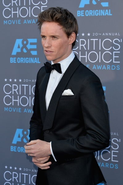 Mr. Redmayne, all buttoned up. (Photo via Getty)
