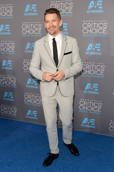 Ethan Hawke last week at the Critics' Choice Awards. (Photo via Getty)