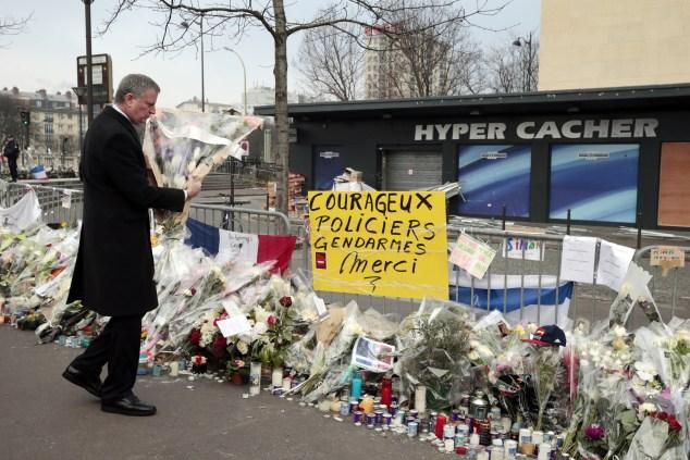 Mayor Bill de Blasio is Paris today. (Photo:  JOEL SAGET/AFP/Getty Images)