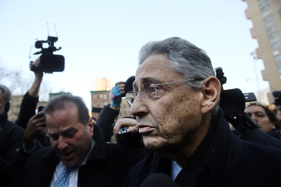 Speaker of the New York State Assembly, Sheldon Silver, walks out of a New York court house after being arrested on federal corruption charges on January 22, 2015 in New York City. (Photo: Spencer Platt/Getty Images)
