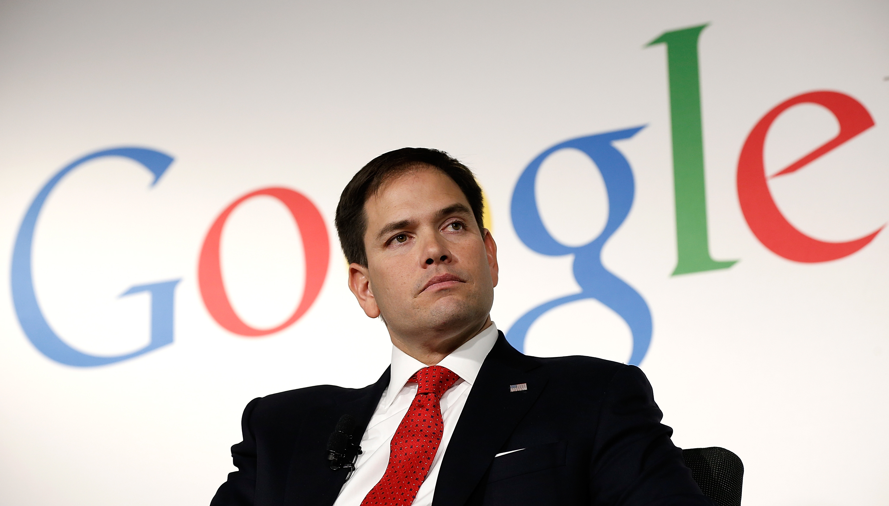 Sen. Marco Rubio, seen here speaking at Google's offices, recently called for further NSA surveillance. (Photo: Getty Images)