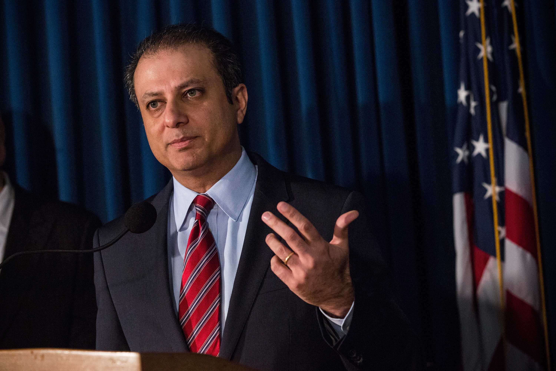 U.S. Attorney Preet Bharara. (Photo: Andrew Burton/Getty Images)