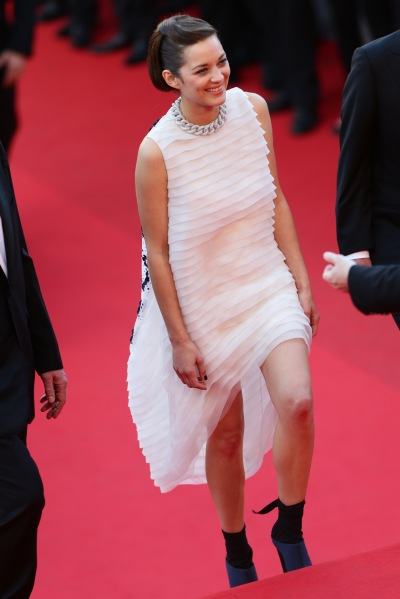 Ms. Cotillard in Dior at the Cannes Film Festival. (Photo via Getty)