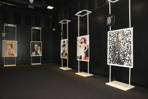The 'Shooting Stars' exhibition, hosted by Miley Cyrus. (Photo courtesy Patrick McMullan)