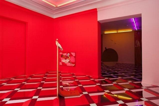 Alex Da Corte, Delirium, 2014, installation view, David Risley Gallery, Copenhagen. (Image courtesy David Risley Gallery.)