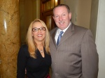 GOP Committeewoman Janice Fields and Bernardsville Mayor Kevin Sooy.