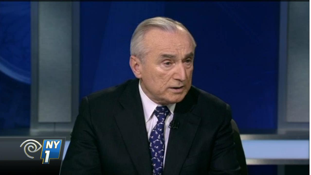 NYPD Commissioner Bill Bratton. (Screenshot: NY1)