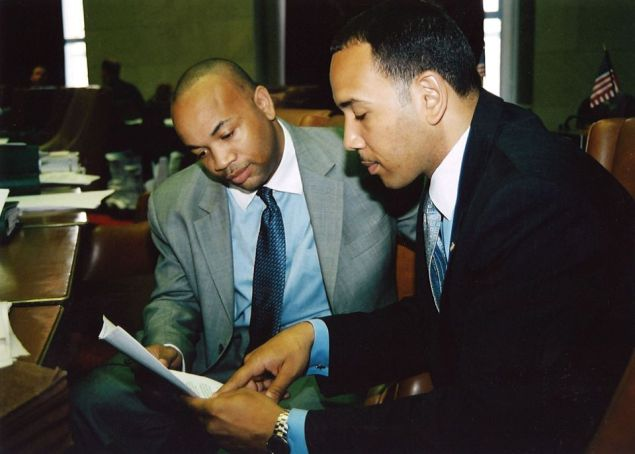 Assemblyman Carl Heastie, left, with Bronx Borough President Ruben Diaz, Jr. (Photo: Facebook).