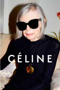 Ms. Didion models for Céline (Photo: Céline).