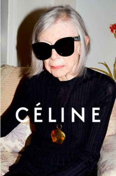 Ms. Didion models for Céline (Photo: Céline).
