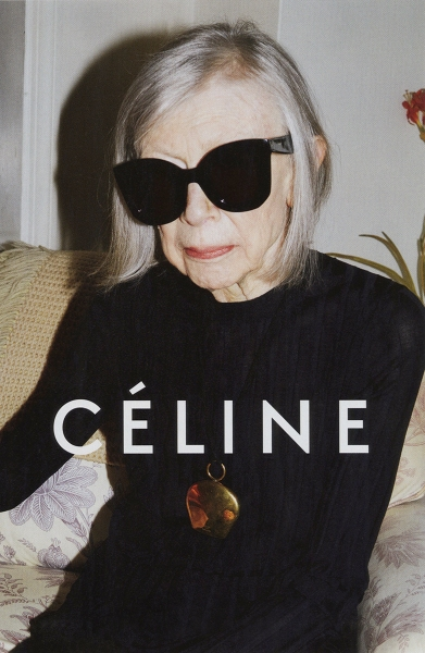 Joan Didion poses for Céline