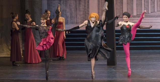 Cinderella, with Margarita Frolova, Yekaterina Kondaurova and Yekaterina Ivannikova. (Photo by Jack Vartoogian/FrontRowPhotos)