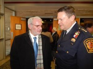 Assemblyman Gary Schaer (D-36). left, with Passaic County Sheriff (and Clifton diehard) Richard Berdnik.