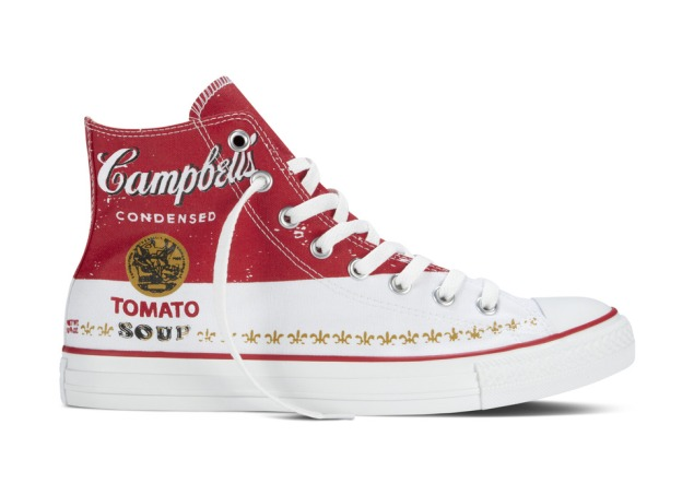 Andy Warhol, now used to sell shoes. (Campbells Red ©/®/TM The Andy Warhol Foundation for the Visual Arts, Inc. Trademarks licensed by Campbell Soup Company. All rights reserved.)