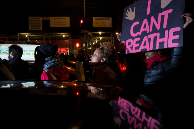 Protesters taking to city streets after the Eric Garner grand jury decision. (Photo: Daniel Cole)