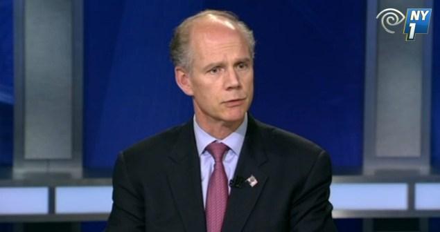 Staten Island District Attorney Daniel Donovan. (Screengrab: NY1)