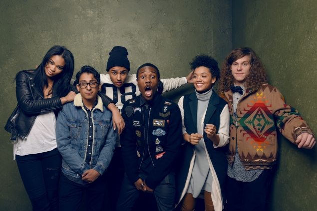 Actors Chanel Iman, Tony Revolori, Quincy Brown, Shameik Moore, Kiersey Clemons and Blake Anderson from Dope.