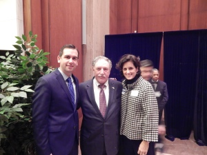 Jersey City Mayor Steve Fulop (left) and Mercer County Democratic Chairwoman Liz Muoio (right).