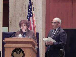 State Sen. Shirley Turner and Assemblyman Reed Gusciora.