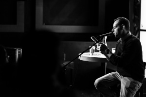 Mr. Angelini doing a reading. (Photo: Brian Willette)