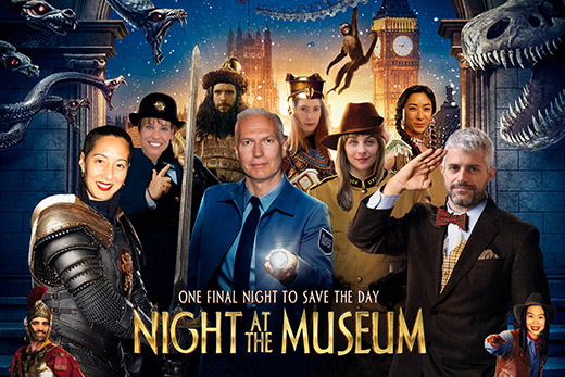 A flyer for a previous edition of Night at the Museum.